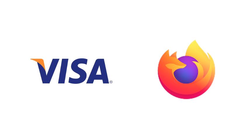 visa and firefox logo