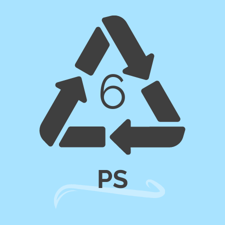 plastic recycling number 6 -PS