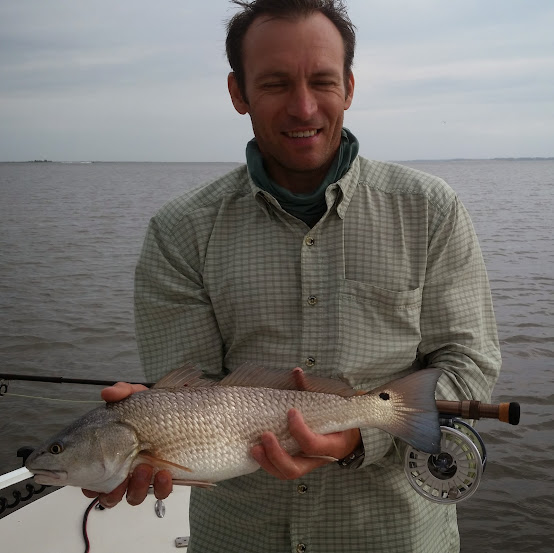 Claudiu's red Golden Isles Fly Fishing