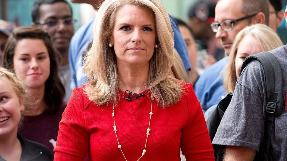 """Host Janice Dean attends """"FOX & Friends"""" All American Concert Series outside of FOX Studios on August 29, 2014 in New York City."""
