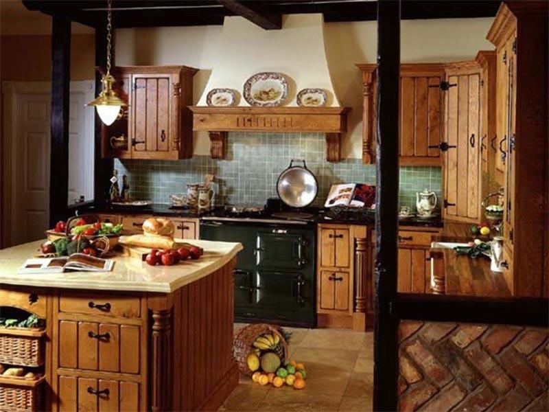 Vidéki stílusú konyha: tégla, fa, fém - a természetesség jegyében