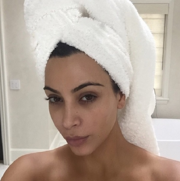 8. Kim Kardashian and her naturally gorgeous eyebrows