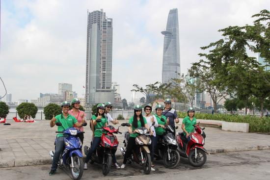 Motorbike tour near Saigon River