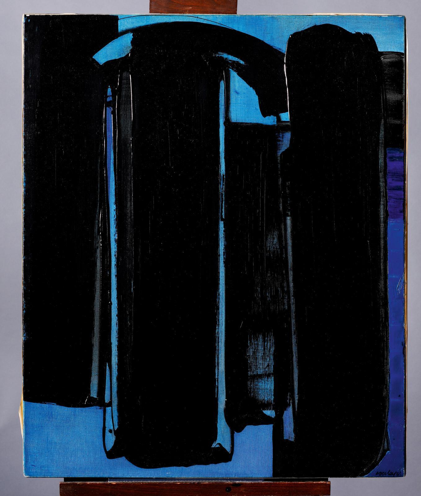 Oeuvre Peinture Noir et Bleu de Pierre Soulages, 1919