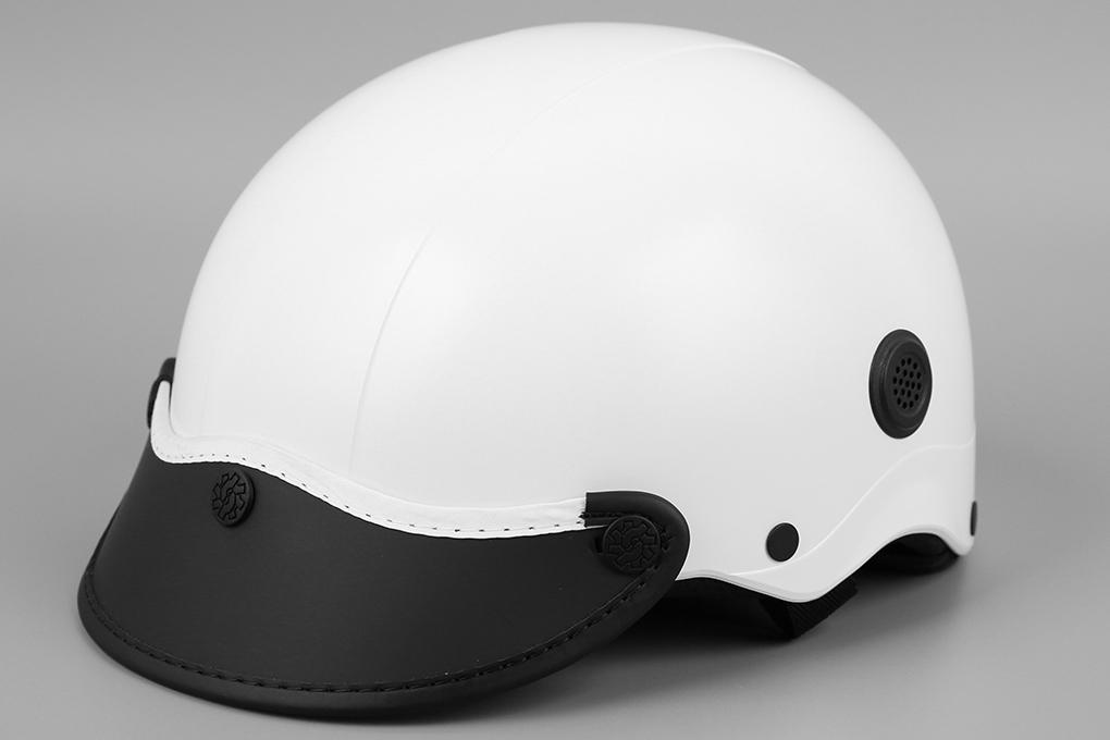 Mũ bảo hiểm nửa đầu size M Nón Sơn NS008M4A trắng - Chính hãng
