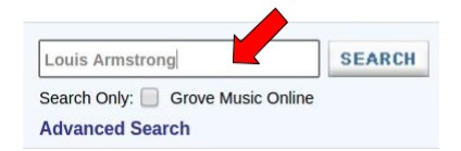 Grove Music Online - Busca