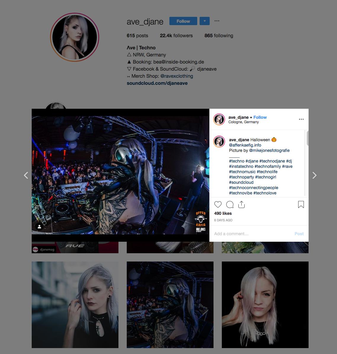 Ave - Instagram Techno Influencer