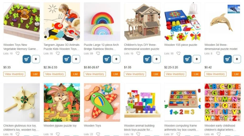 Wooden toys for eco dropshipping