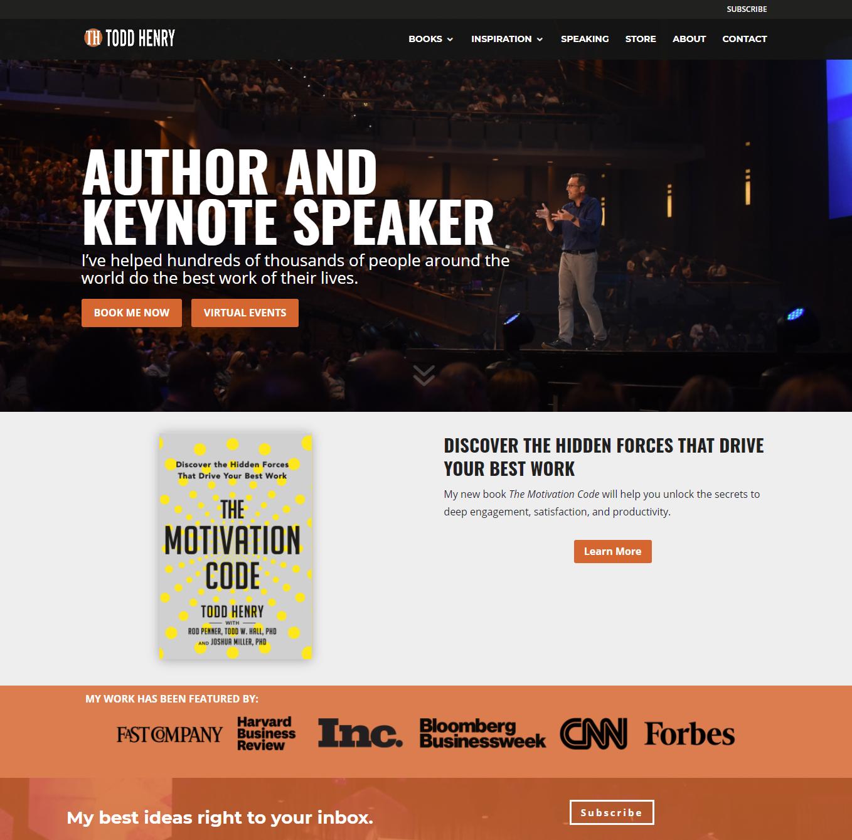 create an online portfolio-website-demo