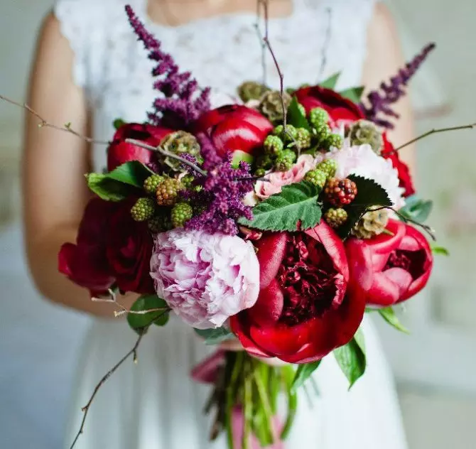 Декор букета для невесты