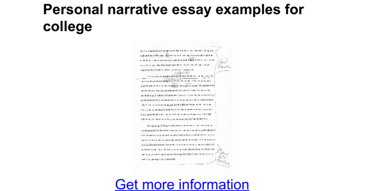 narrative essay for college