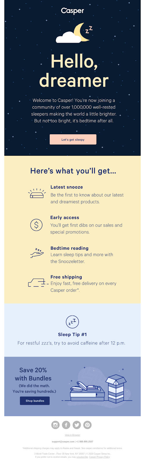 great example of email marketing onboarding