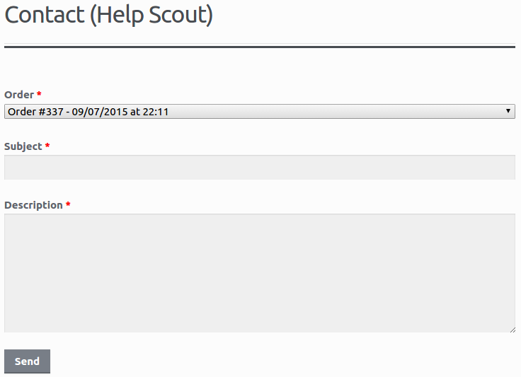 Help Scout - Logged in customer