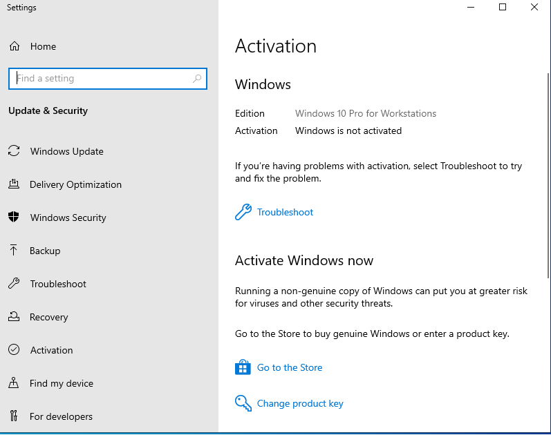 قم بترقية Windows 10 Pro إلى Pro for Workstations
