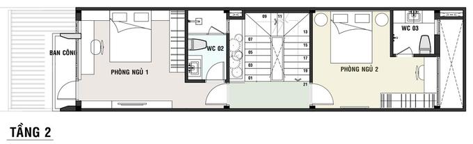 bản vẽ thiết kế nhà ống 5x20 3