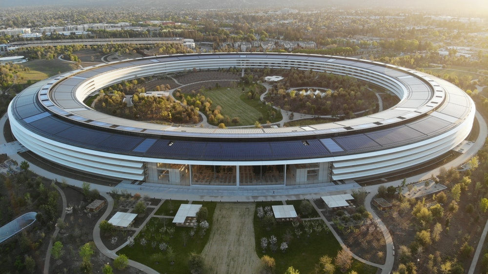 An image of Apple Park—their headquarters design by Norman Foster.