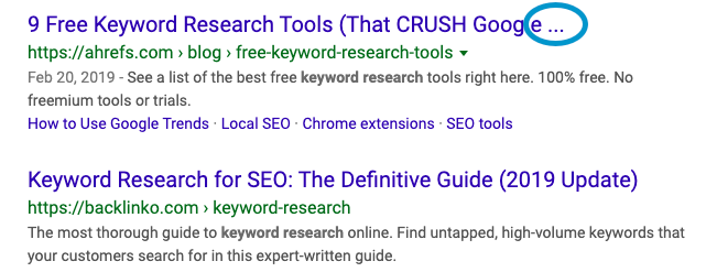 example of truncated seo title