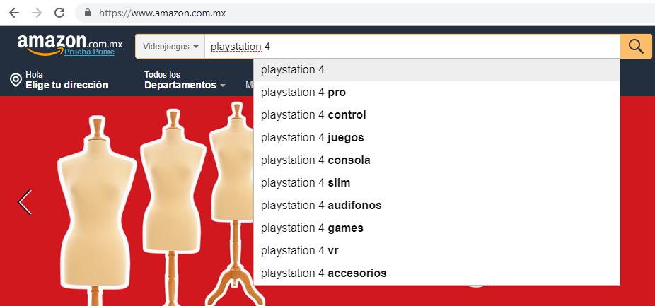 Busquedas Sugeridas Amazon