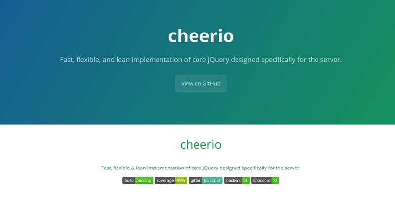 Cheerio – быстрый парсинг сайтов