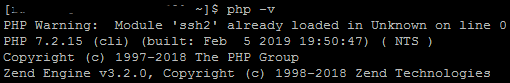 PHP version check
