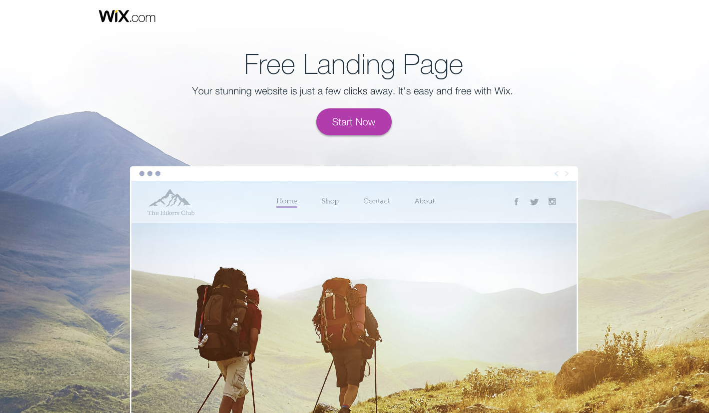 Landing Page to Create Landing Pages