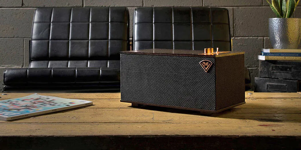 The Three GVA speaker on tabletop