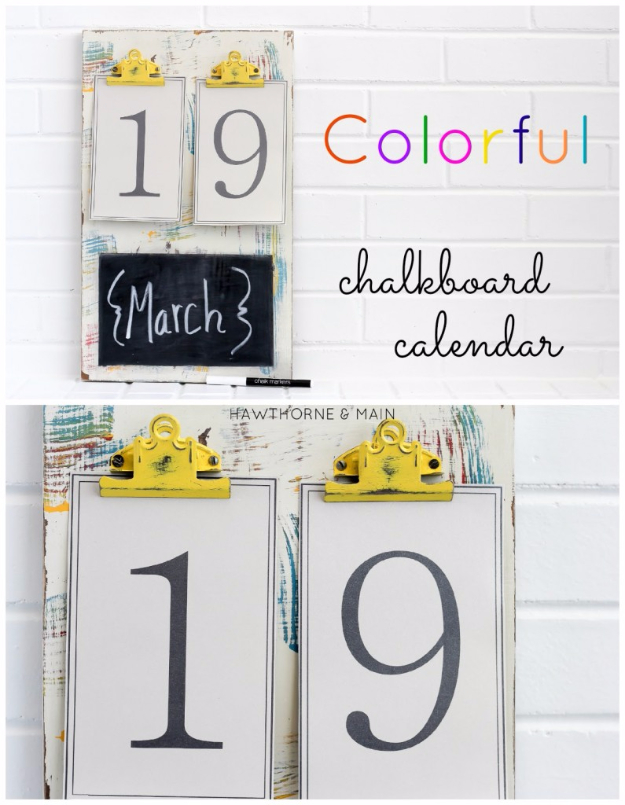 chalkboard calender, a craft that makes money