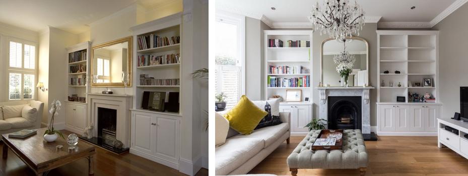 6 идей обустройства ниши в гостиной мебелью