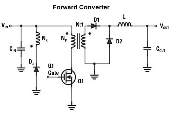 Forward converter circuit diagram
