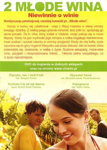 Tył ulotki filmu '2 Młode Wina'