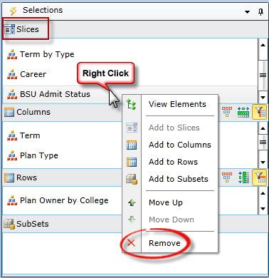 screenshot of choosing Remove from context menu