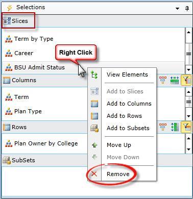 screenshot of choosing Remove from context menu