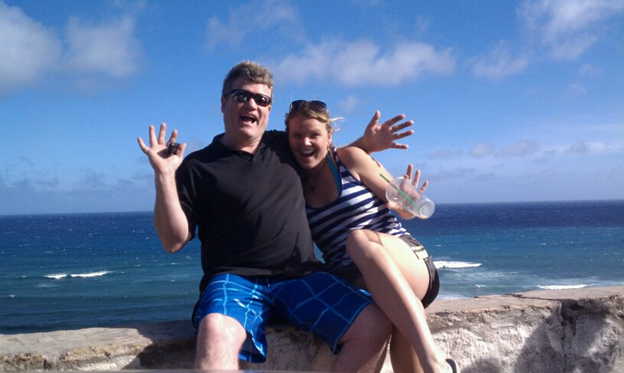 father daughter beach
