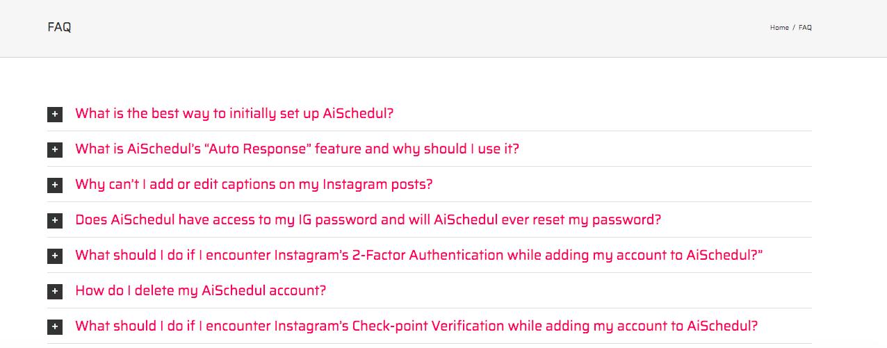 AiSchedul FAQ