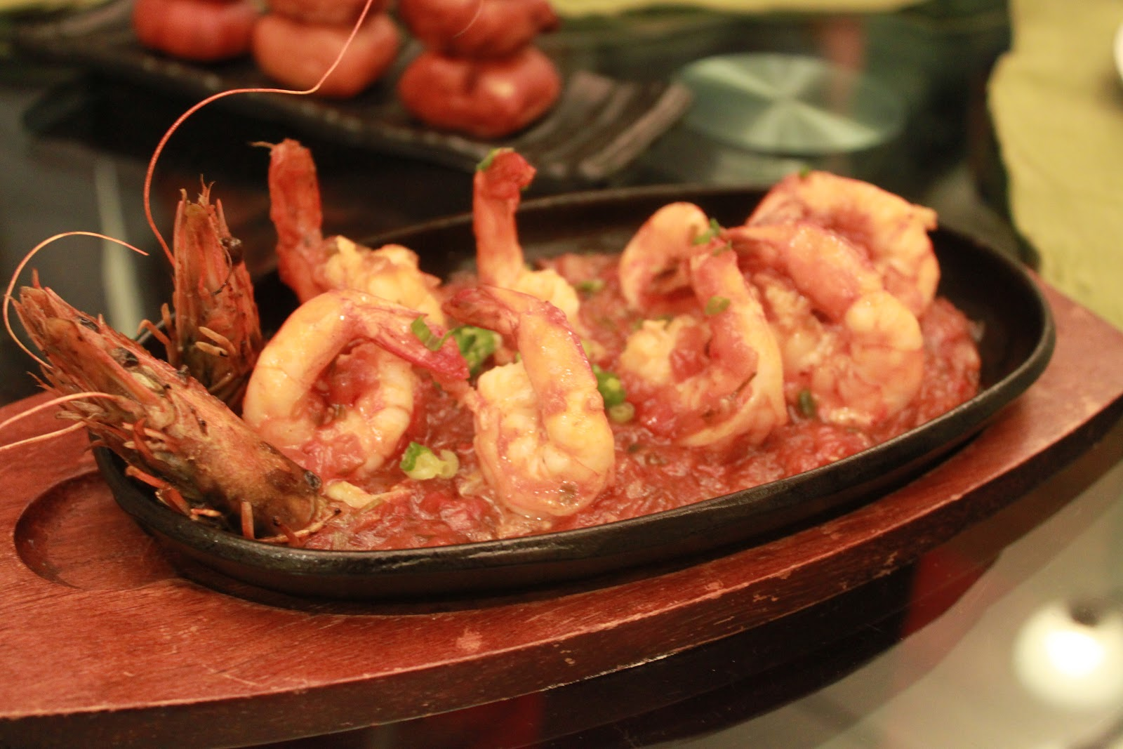 Sauteed prawns in Meenu's secret sauce