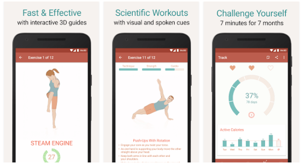 Seven - Learn How to Do a Workout in Just 7 Minutes, Create Exercises and More