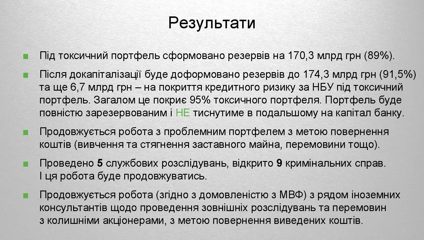 Токсичні активи ПриватБанку 2 Страница 20