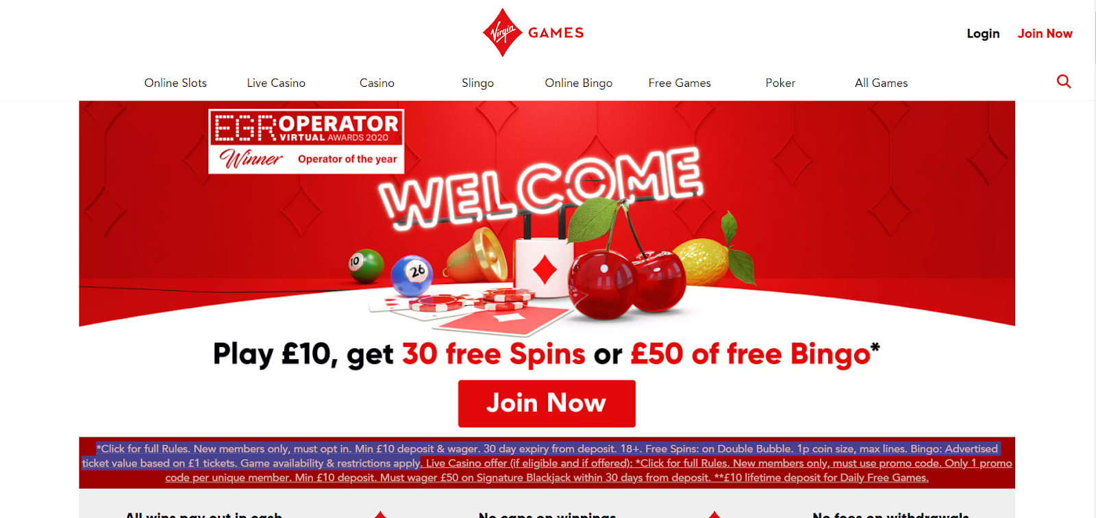 virgin games casino bonuses