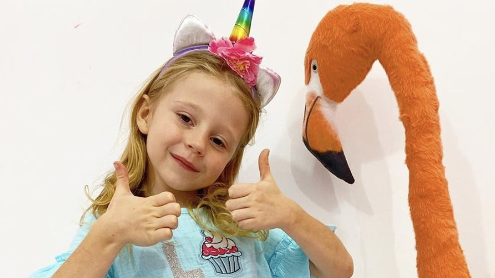 Thumbs up from Nastya, Russian child star on YouTube