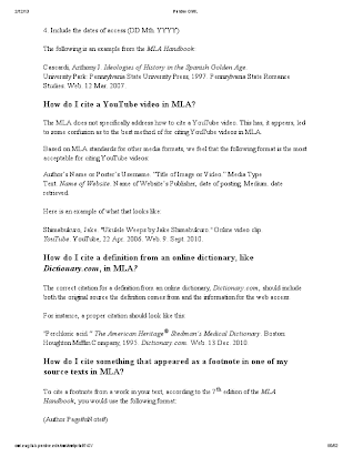 mla dictionary citation