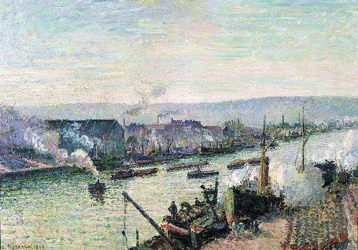 Camille Pissarro, La Seine à Rouen, Saint-Sever, 1896, huile sur toile, Musée d'Orsay, Paris