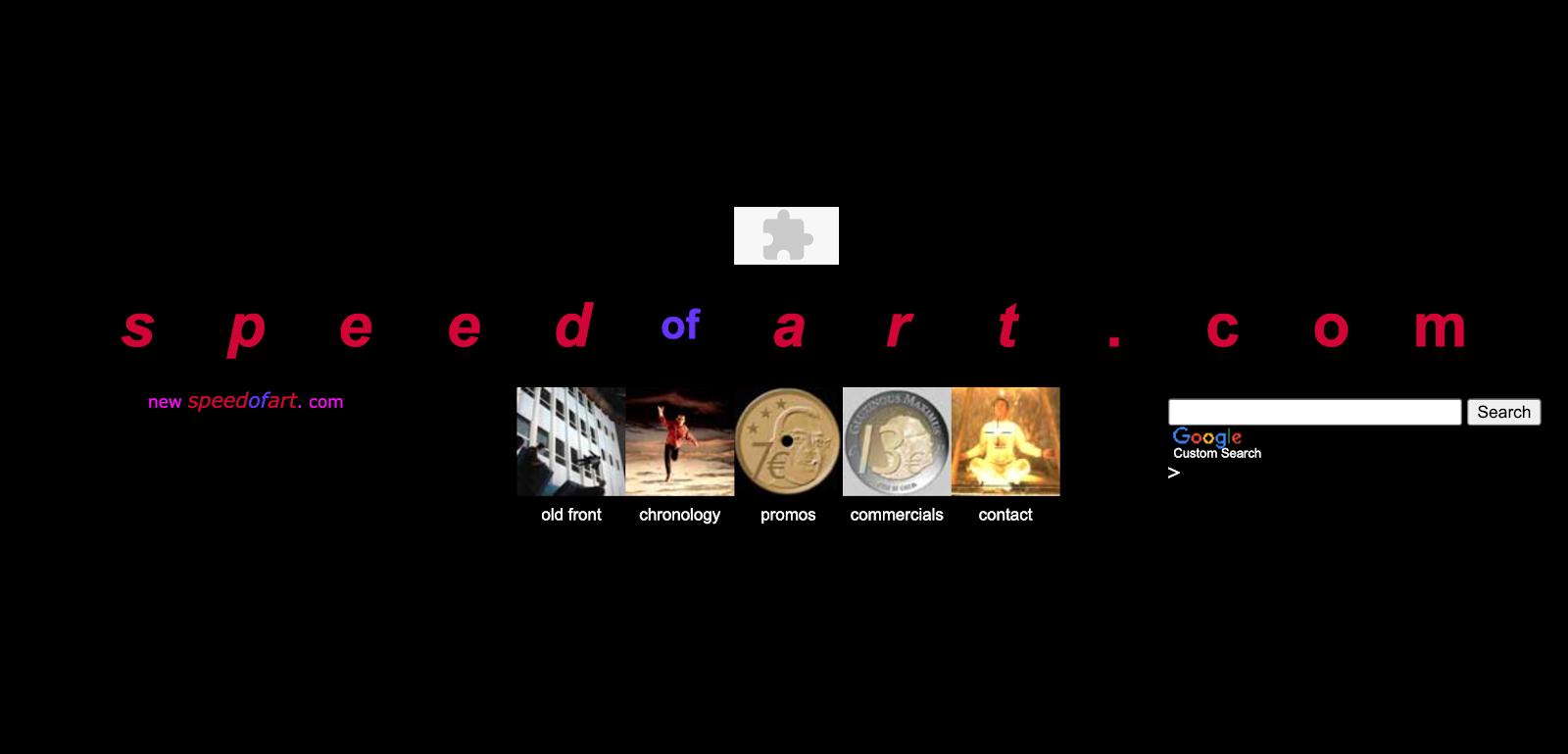Strona docelowa serwisu Speed of Art