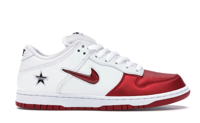 red-white nike shoes