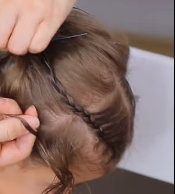 baby girl hairstyle for short hair video