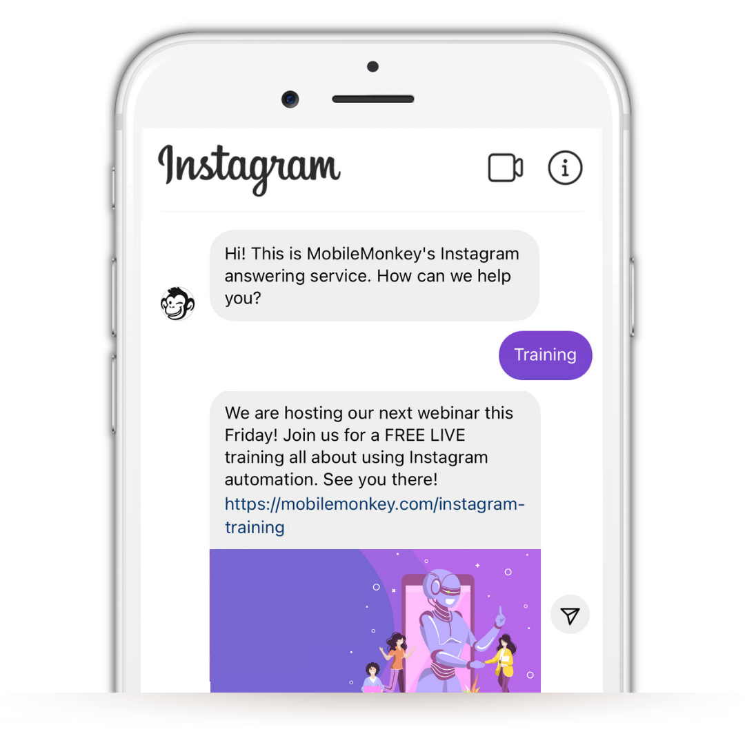 add link to Instagram post from Instagram DMs