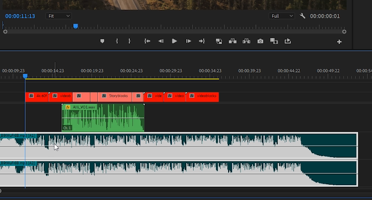 Premiere Pro - Select Music Track in Sequence