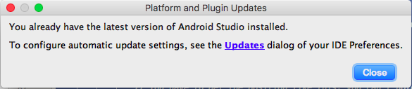 Check for updates until you see a dialog saying that you have the latest version.