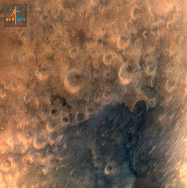 First Photo from Mangalyaan