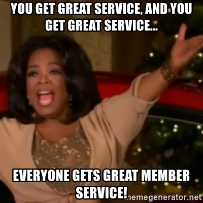 oprah great customer service meme