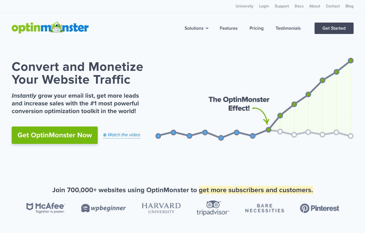 OptinMonster homepage.